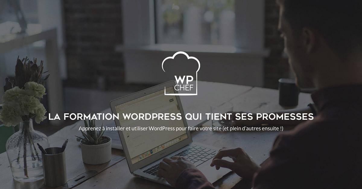 WPChef - La formation WordPress en ligne de référence